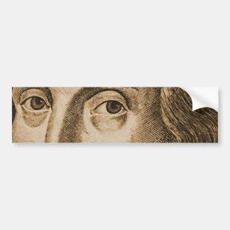 Shakespeare Droeshout Engravings Bumper Sticker