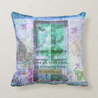 Shakespeare Love TRUST quote Pillows