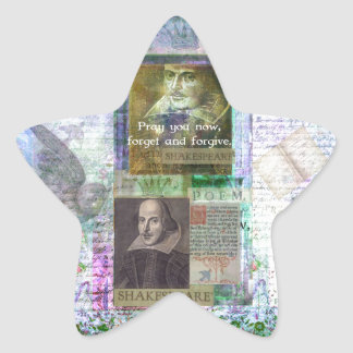 Shakespeare quote on life and forgiveness star sticker