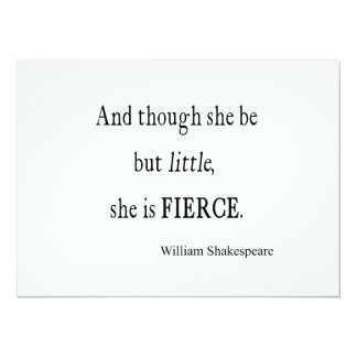 Shakespeare Quote She Be Little But Fierce Quotes Card