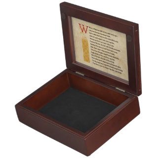 Shakespeare Sonnet 29 (XXIX) on Parchment Keepsake Box