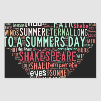 Shakespeare Sonnet Rectangular Sticker