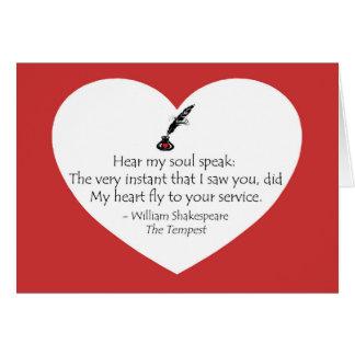 Shakespeare Soul Card