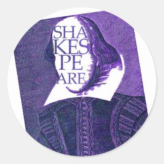 Shakespeare Stylized Sketch Classic Round Sticker