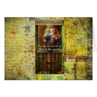 Shakespeare - To be, or not to be Card