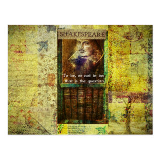 Shakespeare - To be, or not to be Postcard