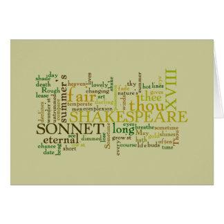 SHAKESPEARE'S XVIII SONNET CARD