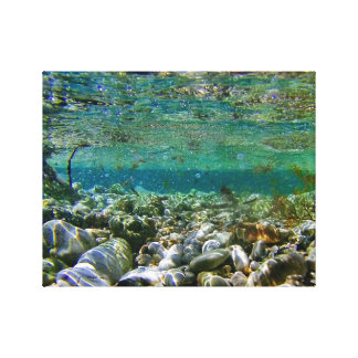 Shallw Waters. Stretched Canvas Prints