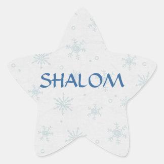 Shalom Wishes Hanukkah Star Sticker