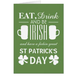 Shamrock and Beer Irish St Patrick's Day Card