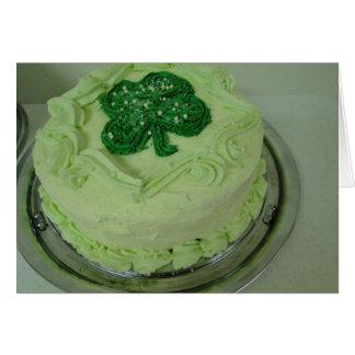 Shamrock Cake, St. Patrick's Day Card