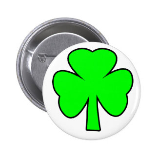 Shamrock Green Black The MUSEUM Zazzle Gifts Button