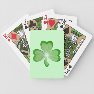 Shamrock Green playing cards