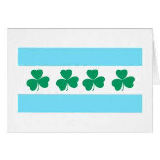 Shamrock Green River St. Patrick's Day Chicago Card