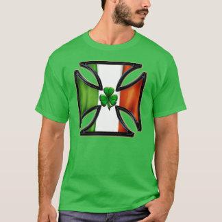Shamrock Irish Flag Cross T-Shirt