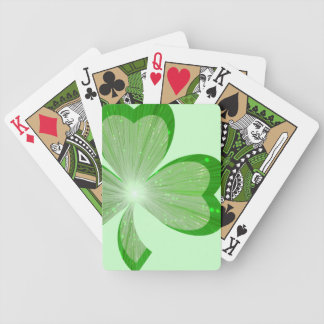Shamrock Large playing cards green