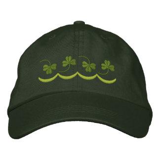 Shamrock Line Embroidered Hat