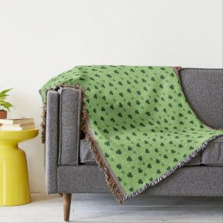 Shamrock Pattern Throw Blanket