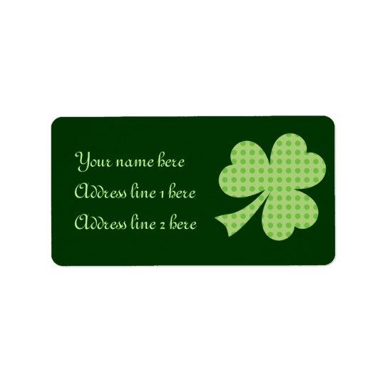 Shamrock Polka dots St. Patrick's Day label Address Label