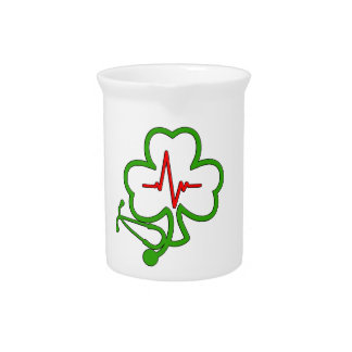 SHAMROCK STETHOSCOPE WITH HEARTBEAT PITCHER