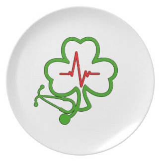 SHAMROCK STETHOSCOPE WITH HEARTBEAT PLATE