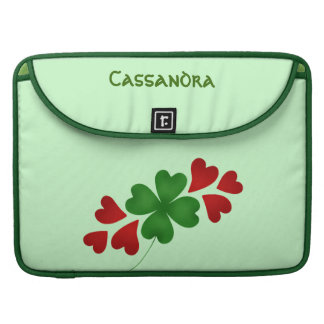 Shamrock with hearts sleeve for MacBooks