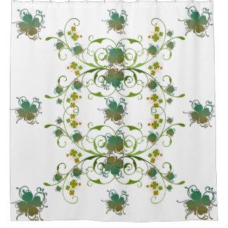 Shamrocks Art Shower Curtain
