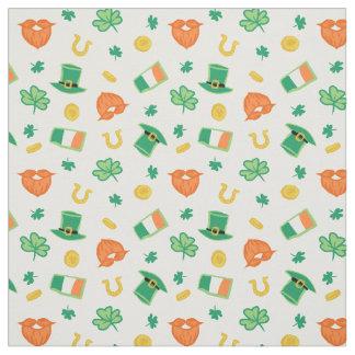 Shamrocks & Hats - St Patrick's Day Pattern Fabric