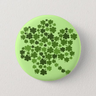 Shamrocks in a Shamrock 6 Cm Round Badge