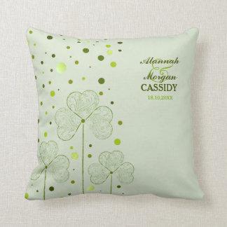 Shamrocks Polka Dots 2 - Customize Pillow