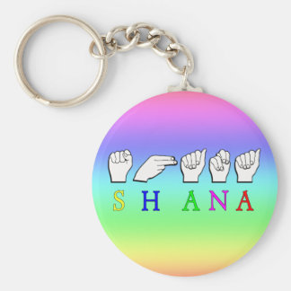 SHANA FINGER SPELLED ASL NAME SIGN KEYCHAIN