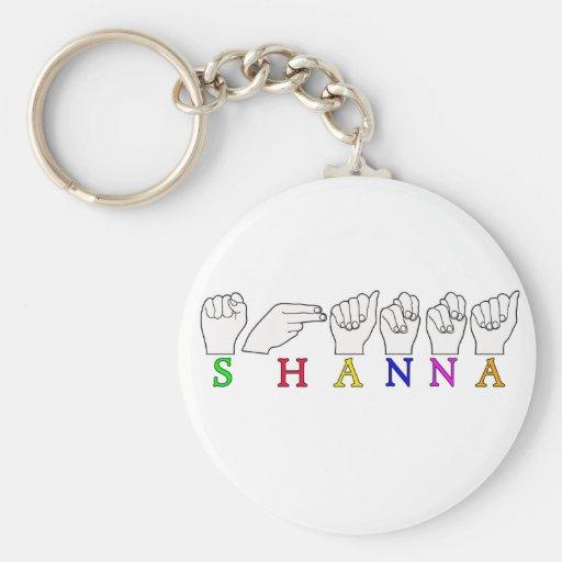 SHANNA ASL FINGERSPELLED NAME SIGN KEY CHAINS