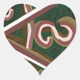 SHANTI Symbol : for Peace Lovers Heart Sticker