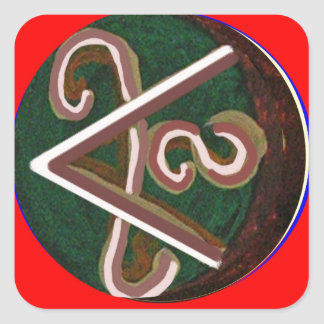 SHANTI Symbol : for Peace Lovers Square Sticker