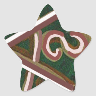 SHANTI Symbol : for Peace Lovers Star Sticker