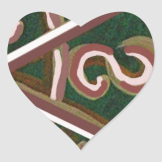 SHANTI Symbol : for Peace Lovers Heart Stickers