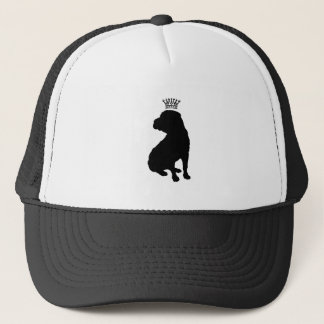 Shar Pei Basic Black Crown Silhouette Trucker Hat