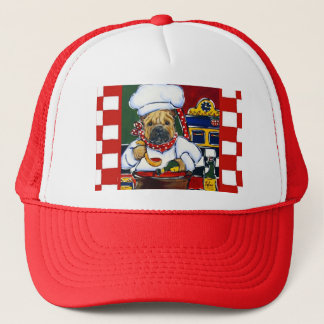 Shar-Pei Chef Trucker Hat