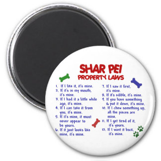 SHAR PEI Property Laws 2 Magnets