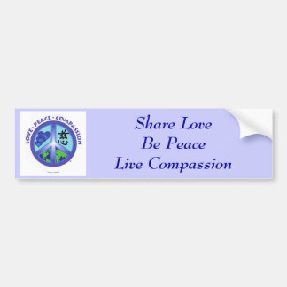 Share Love Be Peace Bumper Sticker