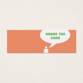 share the care speech bubble referral mini business card