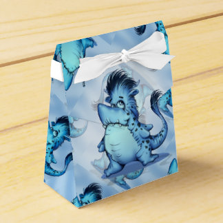 SHARK ALIEN MONSTER Tent with Ribbon Favor Box