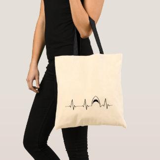Shark Attack Heart Line | I Love Sharks! | Tote Bag