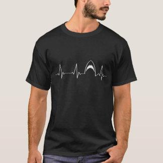 Shark Attack Heartbeat | I Love Sharks | Jaws | T-Shirt