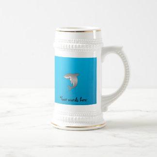 Shark blue background mug