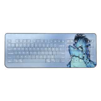 SHARK FISH ALIEN MONSTER Custom Wireless Keyboard