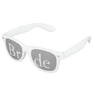 Shark Grey with White Wedding Detail Retro Sunglasses
