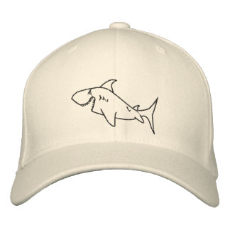 Shark Hat Embroidered Cap