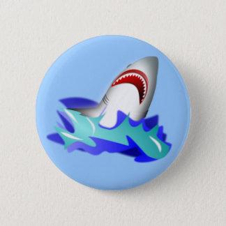 Shark Rise 6 Cm Round Badge
