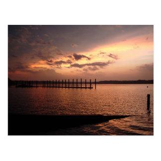 Shark River Belmar Sunset Postcard